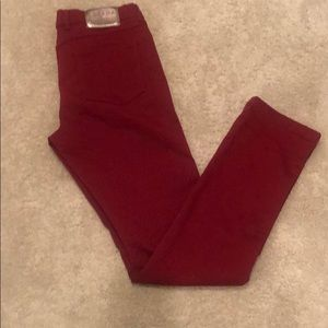 Red Escada jeans with flattering stretch in sz 40